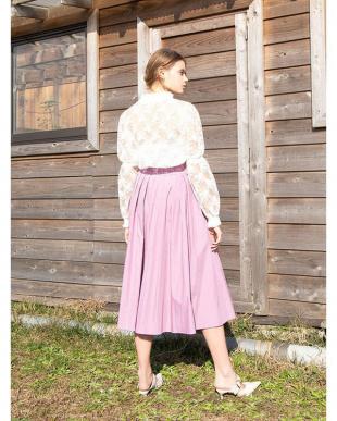 PURPLE フロントボタンタックフレアスカートを見る