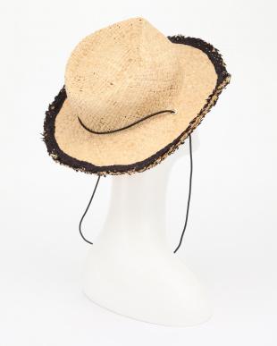 NATURALXBLACK  STRAW FRNG HATを見る