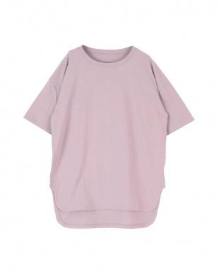 ラベンダー コットンカットソーロング丈Tシャツを見る