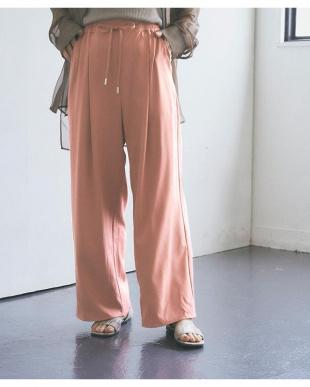 ピンク リラックスワイドパンツを見る