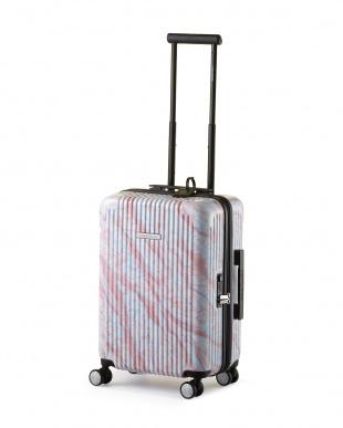 ピンクマーブル 4輪キャスター スーツケース ジッパータイプ  22インチを見る