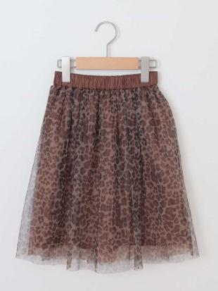 ブラウン [100-130]レオパードチュールスカート[WEB限定サイズ] a.v.v bout de chouを見る