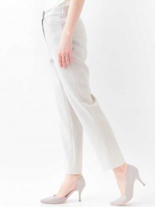ホワイト 【日本製・洗える】美シルエットスティックパンツ CHRISTIAN AUJARDを見る