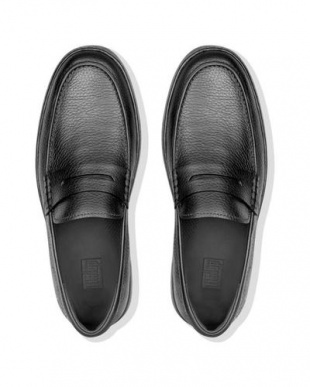 BLACK BOSTON LEATHER LOAFERを見る