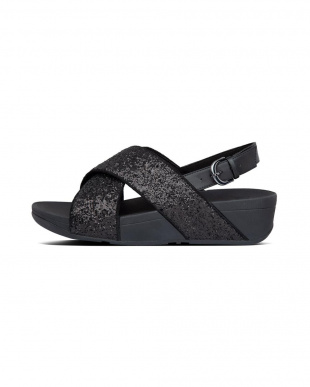 BLACK GLITTER LULU GLITTER BACK STRAP SANDALSを見る