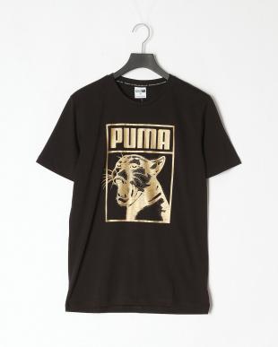 PUMA BLACK ESS+ 3/4 ウーブンパンツ/ボックスロゴ グラフィックTシャツを見る