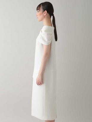 ホワイト 【日本製】コクーンデザインドレス HIROKO KOSHINOを見る
