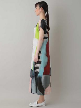 ブルー 【日本製】アートプリントドレス HIROKO KOSHINOを見る