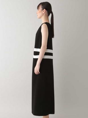 ブラック 【日本製】バイカラージップドレス HIROKO KOSHINOを見る