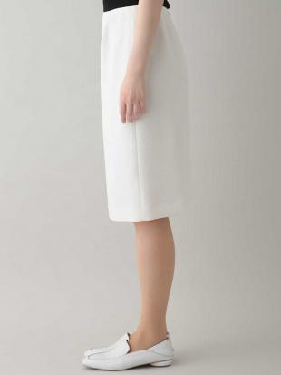 ホワイト 【日本製】ダブルアムンゼンタイトスカート HIROKO KOSHINOを見る
