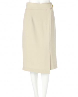 ベージュ ◆ダブルクロスラップ風スカート PINKY & DIANNEを見る