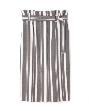 ベージュ1 ドビーストライプタイトスカート PINKY & DIANNEを見る