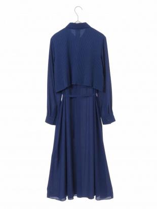 ブルー 【洗濯機で洗える】ニットジョイントドレス HIROKO BISを見る