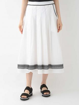マスタード 【洗える】エキゾチック刺繍タックフレアースカート HIROKO BISを見る