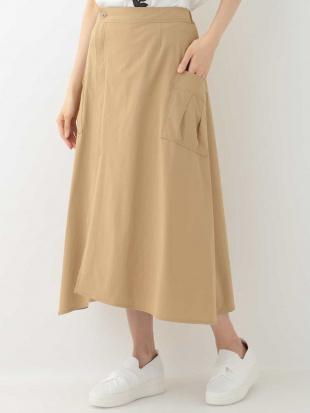 ベージュ 雑誌掲載商品【洗濯機で洗える】ストレッチラップスカート HIROKO BISを見る