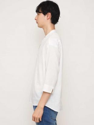 ネイビー 【吸水速乾】イージーケアバンドスキッパー7分袖シャツ[WEB限定サイズ] a.v.v HOMMEを見る