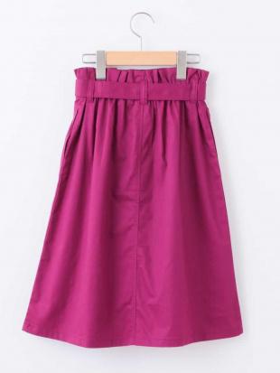 パープル [140-150]ベルト付きミディ丈スカート a.v.v bout de chouを見る
