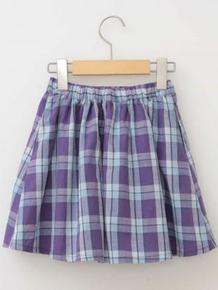ホワイト [160]チェックギャザースカート[WEB限定サイズ] a.v.v bout de chouを見る