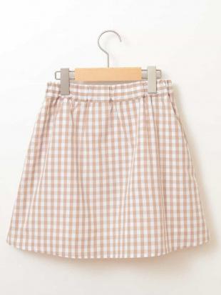 ベージュ [160]ギンガムチェック切り替えスカート[WEB限定サイズ] a.v.v bout de chouを見る