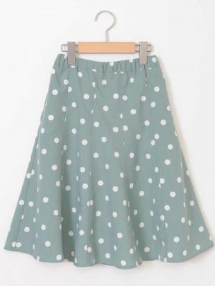 グリーン [140-150]【洗える】ドットプリントスカート a.v.v bout de chouを見る