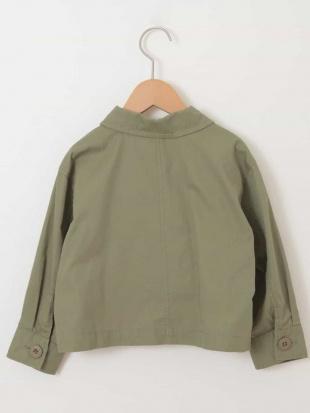 カーキ [140-150]ミリタリーシャツジャケット a.v.v bout de chouを見る