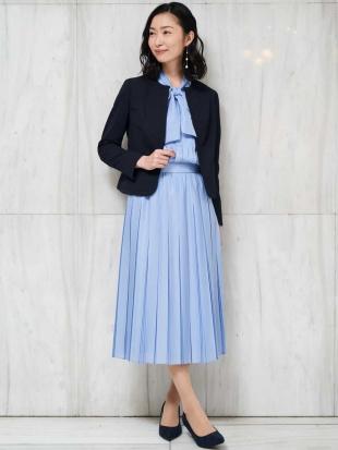 ネイビー 【セットアップ対応/洗える】ミストロンツイルプリーツスカート MICHEL KLEINを見る