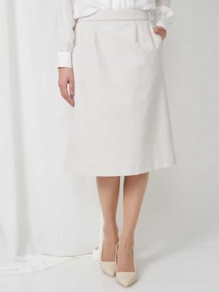 ライトベージュ 【セットアップ対応/洗える】トリコットカノコAラインスカート MICHEL KLEINを見る