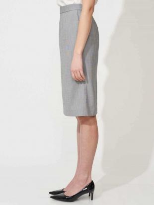 ネイビー 【セットアップ対応/洗える】ピンチェックタイトスカート MICHEL KLEINを見る