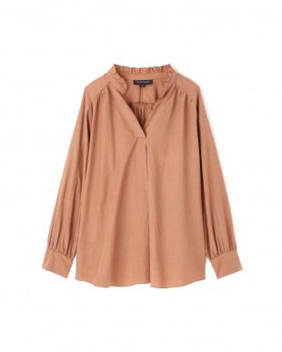 BROWN ◆アヌークフリルネックシャツ ジルスチュアートライセンスを見る