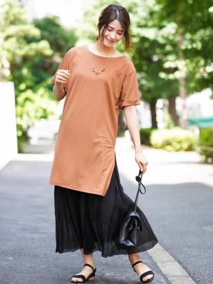 ブラウン 【2点セット】ジャージチュニック×プリーツスカート a.v.vを見る