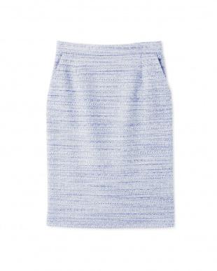 サックスブルー1 ツィードセットアップスカート BOSCHを見る