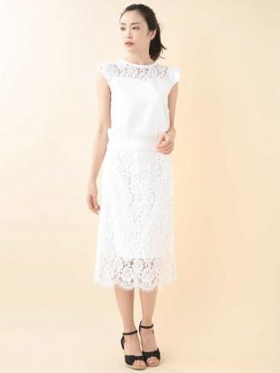 ホワイト レースタイトスカート【洗える】 TARA JARMONを見る