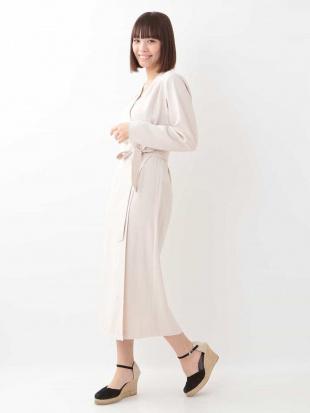 ホワイト ギャバジンビスコースドレス【洗える】 TARA JARMONを見る