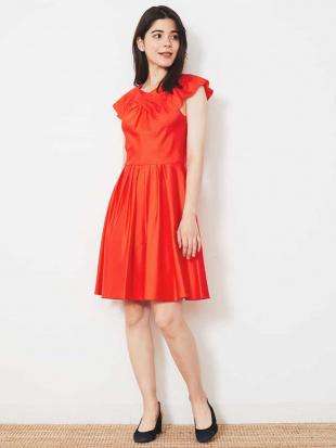 レッド コットンデザインドレス 【洗える】 TARA JARMONを見る
