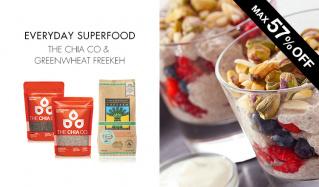 EVERYDAY SUPERFOOD -THE CHIA CO & GREENWHEAT FREEKEH-のセールをチェック