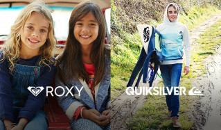 ROXY GIRLS/QUIKSILVER BOYSのセールをチェック