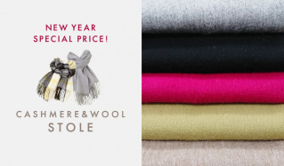 CASHMERE & WOOL STOLE -NEW YEAR SPECIAL PRICE!-のセールをチェック