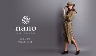 NANO・UNIVERSE WOMEN -FINAL SALE-(ナノ・ユニバース)のセールをチェック