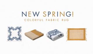 NEW SPRING! COLORFUL FABRIC RUGのセールをチェック