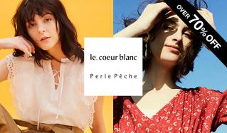 LE COEUR BLANC/PERLE PECHE -OVER70%OFF-のセールをチェック