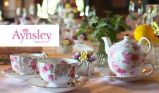 AYNSLEY ~貴族に愛される、英国の名窯(エインズレイ)のセールをチェック