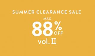 SUMMER CLEARANCE SALE MAX88%OFF vol.Ⅱのセールをチェック