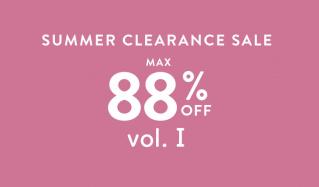 SUMMER CLEARANCE SALE MAX88%OFF vol.Ⅰのセールをチェック