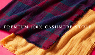 PREMIUM 100% CASHMERE STOLEのセールをチェック
