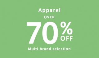 OVER 70%OFF apparelのセールをチェック