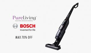 PURE LIVING/BOSCH ~UV除菌の安心家電+ドイツ発の有名家電のセールをチェック