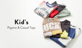 Kid's Pajama & Casual Topsのセールをチェック