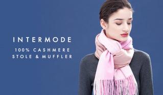 INTERMODE 100%CASHMERE STOLE & MUFFLER(インターモード)のセールをチェック