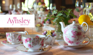 英国の名窯 AYNSLEY(エインズレイ)のセールをチェック