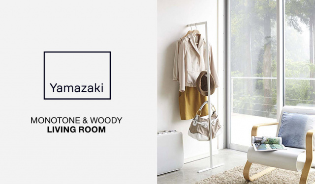 MONOTONE  & WOODY-LIVING ROOM-